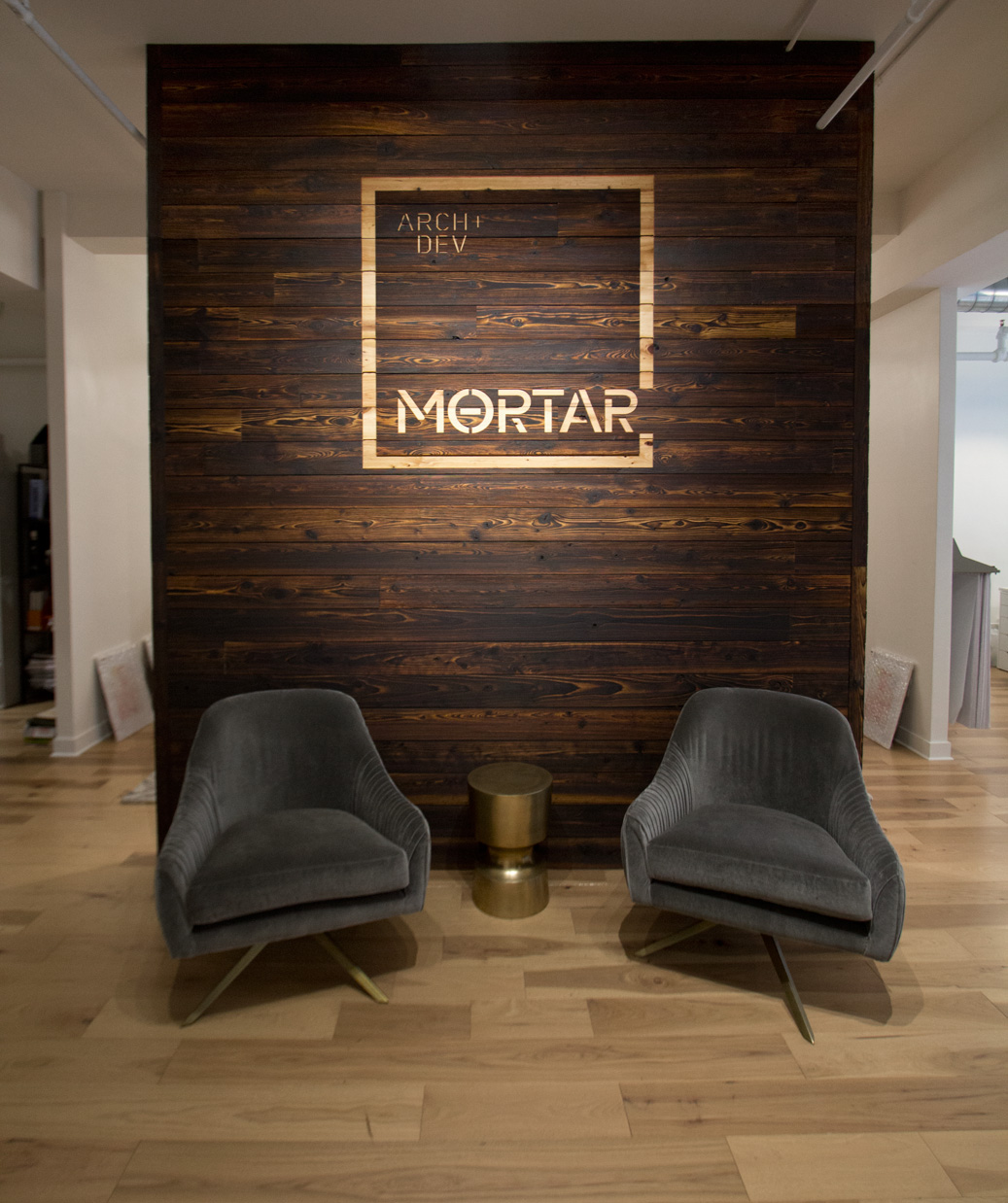 Wood Accent Wall Patterns: Mortar Arch + Dev Office :: TORA Shou Sugi Ban